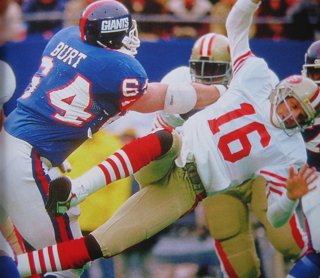 27ac4572 Good view here of how Jim Burt had his jersey custom-tied for maximum  tightness.