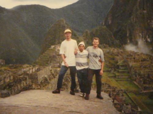 Juba, guia e eu, em Machu Picchu