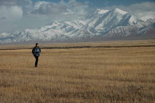 Running in the Pamir Mountains