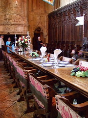 Hearst Castle_Banquet Hall (catface3) Tags: california statepark silver medieval explore diningroom catsup sansimeon williamrandolphhearst hearstcastle juliamorgan candlesticks banquethall marblefloor guidedtour choirstalls clothnapkins epergne catface3 refectorytable mantleovermantle