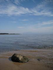 琵琶湖の水平線