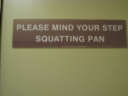 Warning for the Squatting Pan