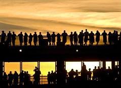 Heinz Sunset (M Styborski) Tags: sunset shadow sky people usa sun silhouette skyline clouds photo football pittsburgh stadium roadtrip packers explore pa greenbay fans steelers catwalk heinzfield stillers preseason anawesomeshot mstyborski backtotheburgh