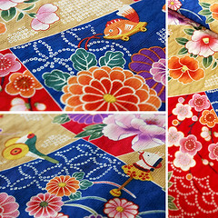 Japanese Antique Pattern Fabric (karaku*) Tags: texture floral japan vintage pattern pentax antique fabric kimono material textiles cloth k100d