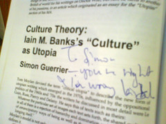 Iain Banks admits my genius