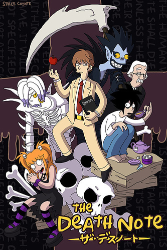 Death Note estilo Futurama