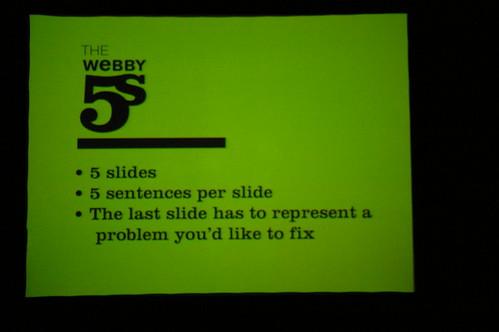 Webby 5s presentation rules