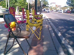 Chairs on Massachusetts Ave.