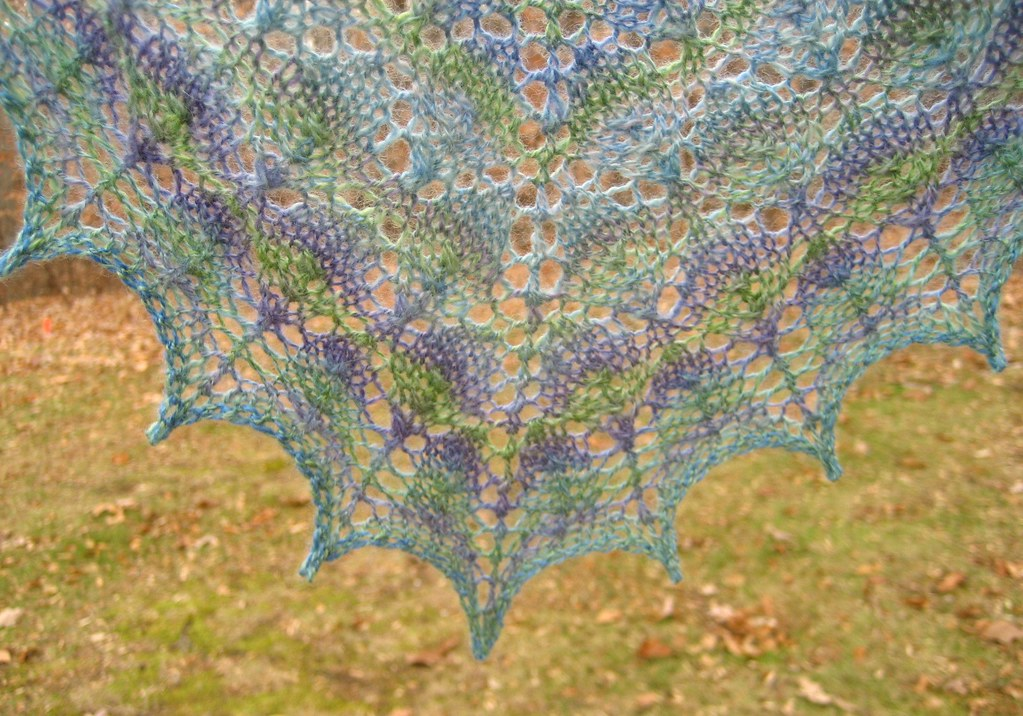 Forest Canopy Shawl Edge Detail