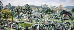 Botanic Gardens, Wellington, New Zealand (Bolton Street Cemetery) (The Viscount of Jive) Tags: newzealand art gardens garden painting julian triptych nz wellington oil botanic oilpainting julek botanicgardens knap julianknap
