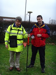 An OS Surveyor and an OSM Surveyor