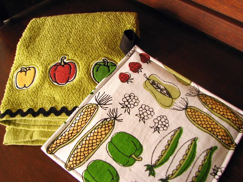 veggie potholder set
