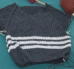 Adirondack Pullover, more progress