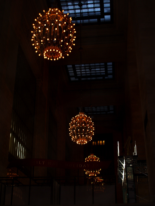 lights, Grand Central Station, NYC