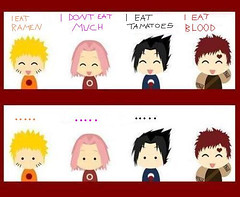 I love..I eat... (SwEeTy+GiRl=Me  make me smile ) Tags: boy anime girl fun blood joke manga sakura naruto sasuke gaara