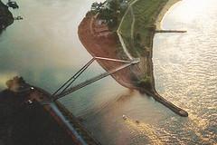 Hafen Footbridge (bridgink) Tags: germany bridges dusseldorf bridging bridgeink
