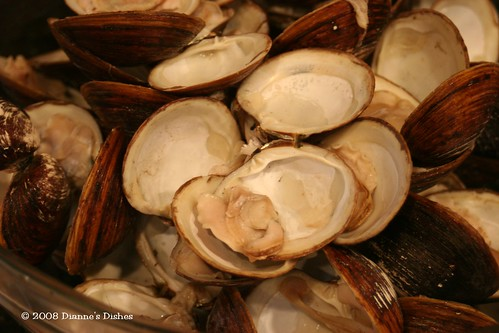 Clam Chowder: Cooked Clams