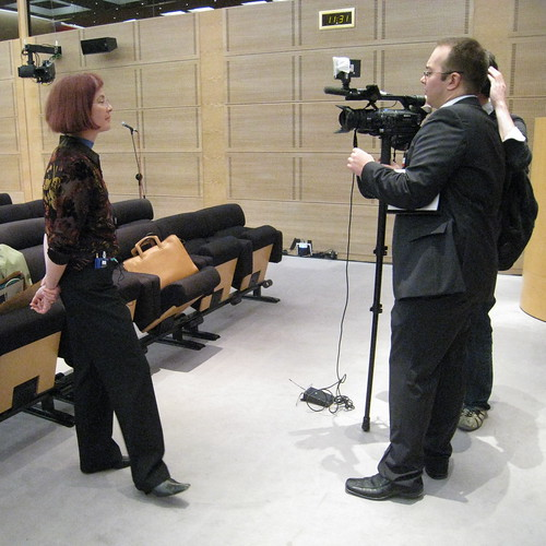 Mitchell Baker interviewed by LCI TV at the French Senate