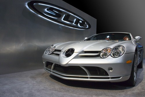 Mercedes Benz SLR at Chicago Auto Show
