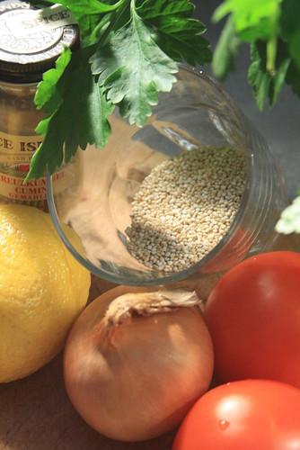 Ingrédients taboulé de quinoa