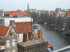Amsterdam - View From the Rooftop (David Rossiter) Tags: amsterdam canal cityscape prinsengracht