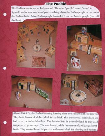 pueblo notebook page by jimmiehomeschoolmom.