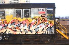 jonboomsak7pz_5 (Zomboider) Tags: new york old school subway graffiti panel 80s mbt tat sak