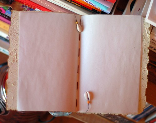 open recycled paper journal
