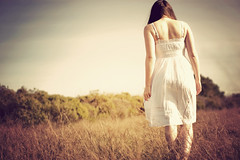 (digitalgopher) Tags: woman white vintage walking nikon dress jess spontaneous 30mm openspaces sigmalens nikond40 fromaoldshoot