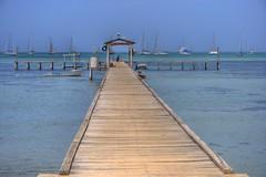 Road to the sea (jmven) Tags: beach azul canon de island muelle boat mar dock venezuela playa margarita isla hdr bote porlamar 400d