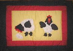 Jogo americano de galinhas da mame 1 - jan 2008 (Kiki Marinho) Tags: patchwork galinhas jogoamericano placemates