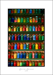 Colors (mansmith) Tags: colors bottles market couleurs morocco marrakech medina march marroc farben zoco mercat flessen nikonf70 bouteilles marroko maroko ampolles mywinners marrqueix colourartaward maraskesz