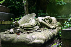 Sleeping angel, Highgate cemetery (ec1jack) Tags: sleeping london grave graveyard angel dead death tomb highgate eos350d sleepingangel highgatecemetery kierankelly cgth ec1jack
