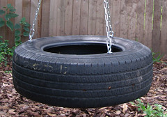 tire swing close up