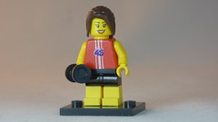 Gymnastic Lady with custom painted 45 Brick Yourself Custom Lego Figure