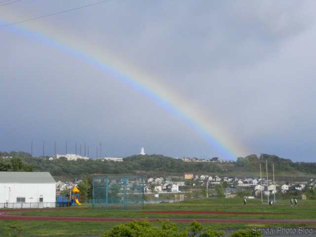 rainbow over sendai