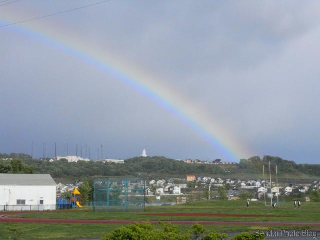 rainbow over sendai