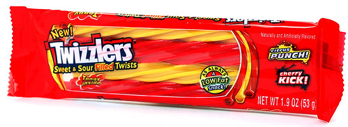 Twizzlers Sweet & Sour Filled Licorice Twists