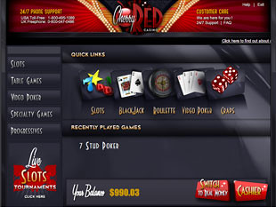Cherry Red Casino Lobby