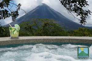 Jacuzzi, del Arenal lodge