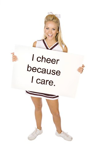 I cheer because I care