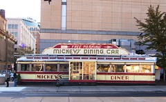 St Paul, MN Mickey's Dining Car 2 (army.arch) Tags: sign breakfast downtown neon diner historic artdeco mn stpaulminnesota nationalregister nrhp