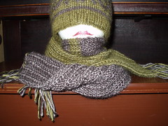 one row scarf wrapped