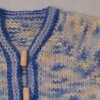 *Vintage Blue* 6-12 month Hand Knit BFL Sweater and Hat
