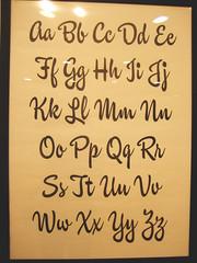 Ken Barber / Brush Script (karen horton) Tags: typography alphabet lettering handdrawn