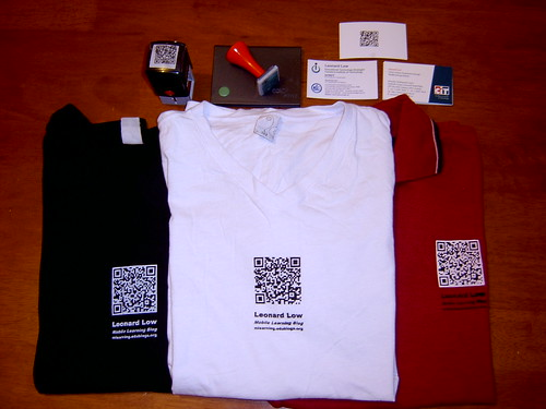 QR Code shirts I wore to the 2007 MLearn Conference