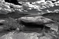 UFO Landing on the Purg (Fort Photo) Tags: bw art nature rock manipulated landscape colorado searchthebest canyon ufo co infrared seco enhanced 2007 blueribbonwinner fakeir purgatoire vob outstandingshots mywinners southeastcolorado
