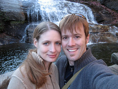 ian and tammy at waterfall
