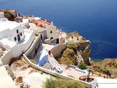 santorini (iliasamos) Tags: blue houses sea vacation sony santorini greece oia dscp200 novideo  10faves    goldenvisions