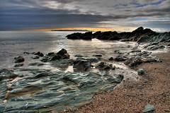 Donabate . County Dublin (derekbyrne) Tags: morning sea rock coast sand nd